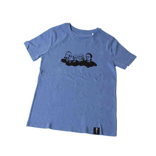 "T-Shirt ""Köpfe"" Mid Heather Blue"