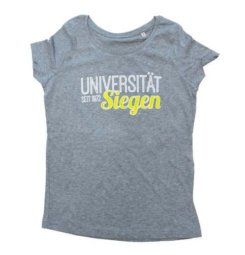 Girlie T-Shirt College grau
